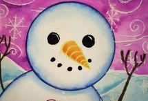 satumainen lumiukko