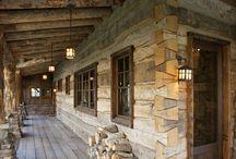 case din lemn rustice
