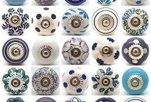 Tiradores de porcelana