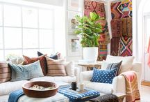 Home | Textiles and Accessories / Beautiful home textiles and accessories (pillows, throw blankets, rugs, curtains, and blankets).