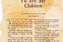 Parenting Letters: Beautiful Letters Between Parents and Kids / Lots of beautifully written parenting letters that will surely warm your heart and touch your soul. The letters are often from parents to children, e.g. a letter from a mother to her daughter or a letter from a father to his son or some other combination.   All these letters seem written from a state of unconditional love. They are love on paper. The person writing the letter is often in a state of deep gratitude for the other person wanting the very best life and future for him or her.   Enjoy!