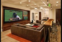 Basement Ideas / TV , REC room or cave, it's a place to get cozy and comfy in style. / by Barbara Elson