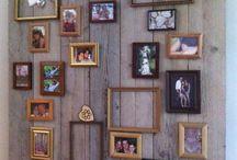 wanddecoratie / Als je geen gaten in de muur wilt.