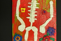 Art projects skeletons and or day of the dead