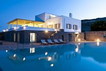Villa Bianca #Mykonos #Greece #Island / Villa Bianca on the island of Mykonos is located in a private area, which enjoys unobstructed views to the town of Mykonos, the bay of Korfos and the bay of Ornos. http://www.mygreek-villa.com/rent-villa-search/villa-bianca