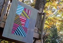 Striped and plaid quilts
