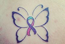 thyroid cancer ribbons / by Susan Sharp-Hoffmeyer