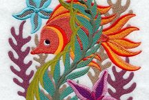 Coral Design Embroidery