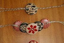 bracciale con bottoni di legno