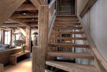 dom w górach schody