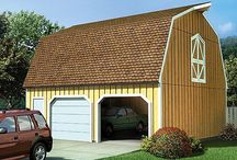Garage Plans with Gambrel Roofs / Garage Plans with gambrel roofs have a barn-like look