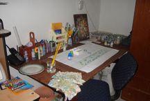 pintura e tecido