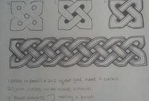 Keltischer Knoten + drunter und drüber Quilt
