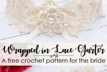 Crochet Wedding / Free Crochet Patterns for wedding to include veils, garters, shawls, etc.