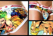 Aussiebum x Super Heros  / Un Super Héros dans le slip ?  http://lesgarconsenligne.com/2014/02/11/un-super-heros-dans-le-slip/
