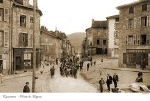 Eymoutiers / Reproductions of old postcards made around a hundred years ago.