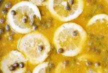 Kipgerechten / Kip met citroen en kappertjes