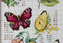 Punto croce farfalle