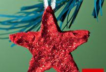 ideas para crear adornos de navidad caseros / ideas para crear adornos de navidad caseros (22 fotos) + info: http://papeleria-segarra.blogspot.com.es/2013/12/manualidades-ideas-para-crear-adornos.html