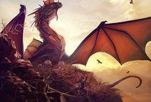 Dragons Dragons Dragons / ummm. draaaaagons.  / by Jaime H.