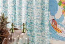 Ткани из коллекций Mustique и Kuba Cay от Zinc Textile - броский дизайн и по-весеннему яркие цвета / Коллекция текстиля Kuba Cay состоит из акцентной ткани Kuba Cay Lagoon, дизайн которой создан по мотивам конголезских традиционных орнаментов, и трех однотонных тканей — компаньонов, выдержанных в цветовой гамме коллекции, заданной расцветками акцентной ткани