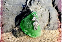 Surfergirl's Seaglass / Jewellery made from seaglass found on West Wales' beaches, and sand, silver, shells and more.