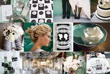 Mint, Black and White Wedding Ideas