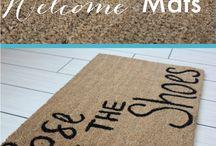 DIY welcome mats