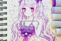 Manga, anime i chibi rysunki