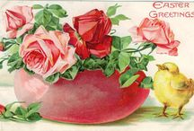 VINTAGE EASTER CARDS / Joyous Easter Wishes...Wishing you all the joy that spring with bloom and song can bring...... / by Claudia Drew-Parker