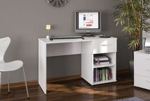White Desk Computer Office Table Workstation Furniture Study PC Laptop Drawer