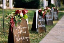 Pancartes , affiches ,fanions mariage