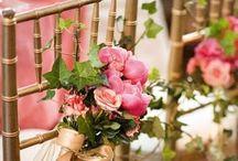 신부 의자 꽃 장식