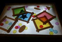 Activité table lumineuse