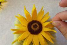 Sonnenblume Filzen