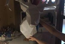 Papercraft Deer Head