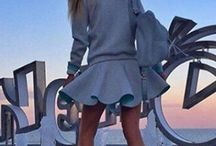 szary melanż spodnica