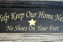 panneau retirer chaussures