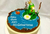 Happy Birthday 60th Cake / 60. Geburtstagstorten
