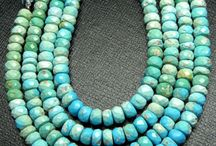 """Sleeping Beauty"" Turquoise Beads / Fascinating Real & Natural Turquoise from Various Parts of the World"