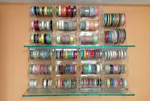 Ribbon Storage and Organization Systems by you ! / ribbon rolls