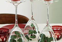 Kerst tafel decoraties