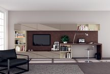 Desks in Living-room / A living area offers a relaxation zone but can also include a work or study zone. Here some perfect desks for living-room! / by Scavolini
