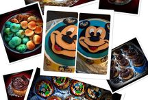 Mickey Mouse / Mickey Mouse fondant cake & muffins