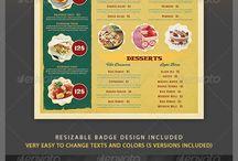food menu layout