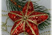 Star embroidery Xmas ornament