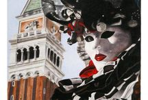 Drawings & Paintings about Venice, Italy. / Drawings and paintings by Jennifer Egista, which represents the city of Venice and its Carnival.
