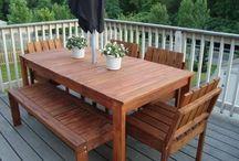 Outdoor wooden stuff
