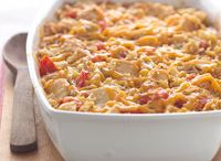 casseroles, vegetables and fruit