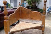 Old bed frame